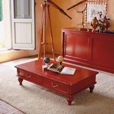 1560 Saros | Tavolino classico in legno di Tonin Casa, diversi colori, 120x60 cm