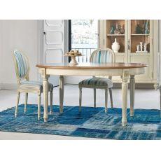1126 Apogeo XVI | Tavolo classico in legno di Tonin Casa, diversi colori, 110x160 cm allungabile