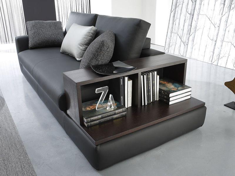 Oceano bis divano moderno a 3 posti con libreria sediarreda - Divano con libreria ...