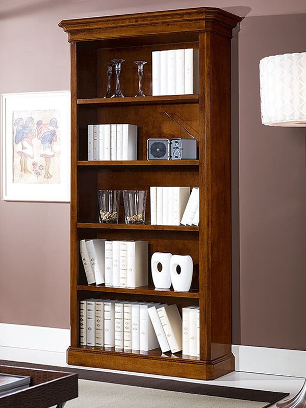 crono biblioth que classique en bois. Black Bedroom Furniture Sets. Home Design Ideas