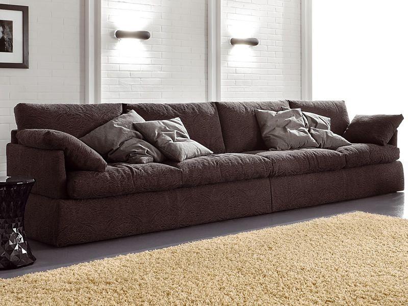 Linz morbido divano lineare 4 posti in diversi tessuti o for Divano 5 posti lineare dimensioni