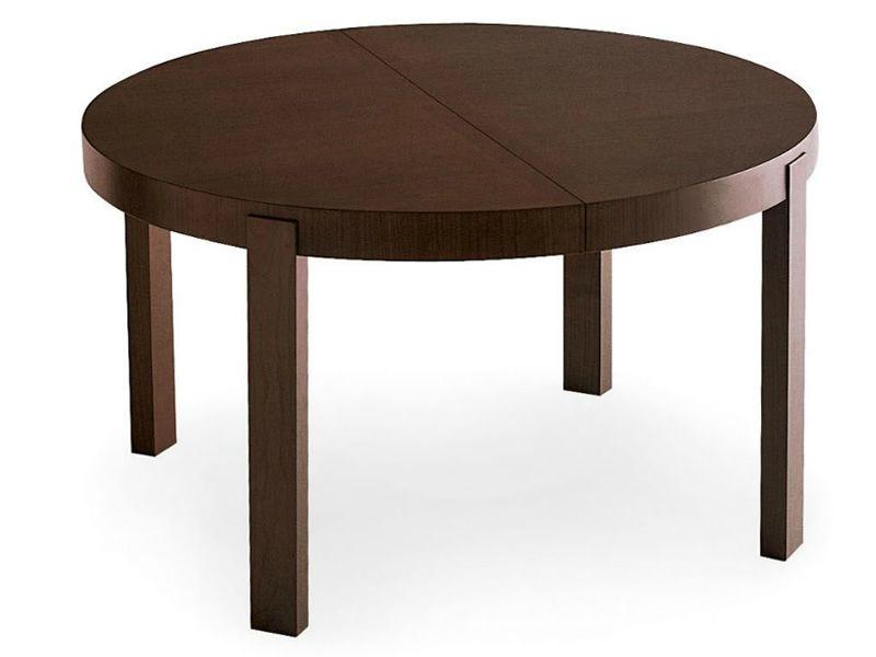 Cs398 rd atelier tavolo calligaris in legno tondo for Tavolo tondo allungabile calligaris