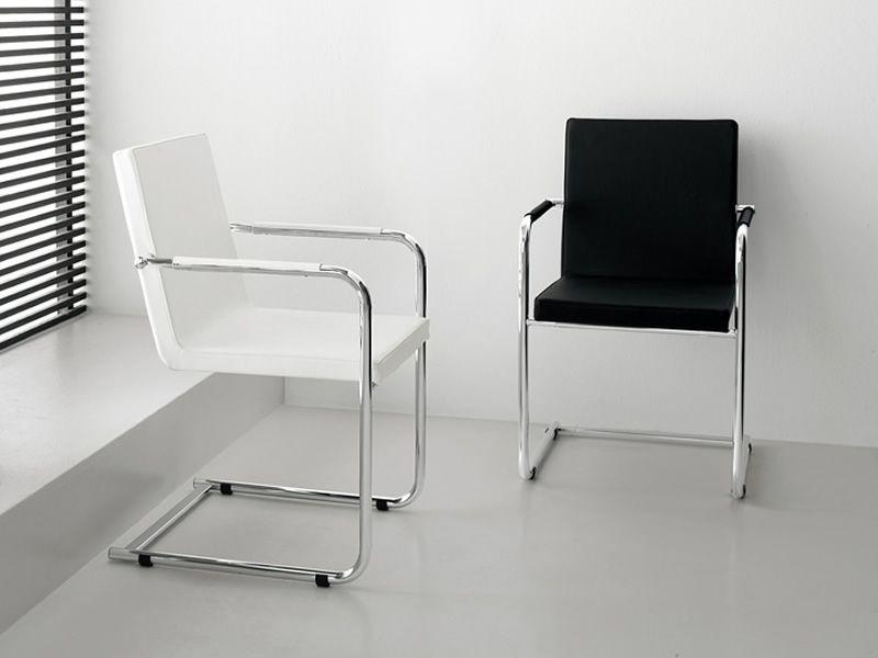 mobili lavelli sedie in pelle nera