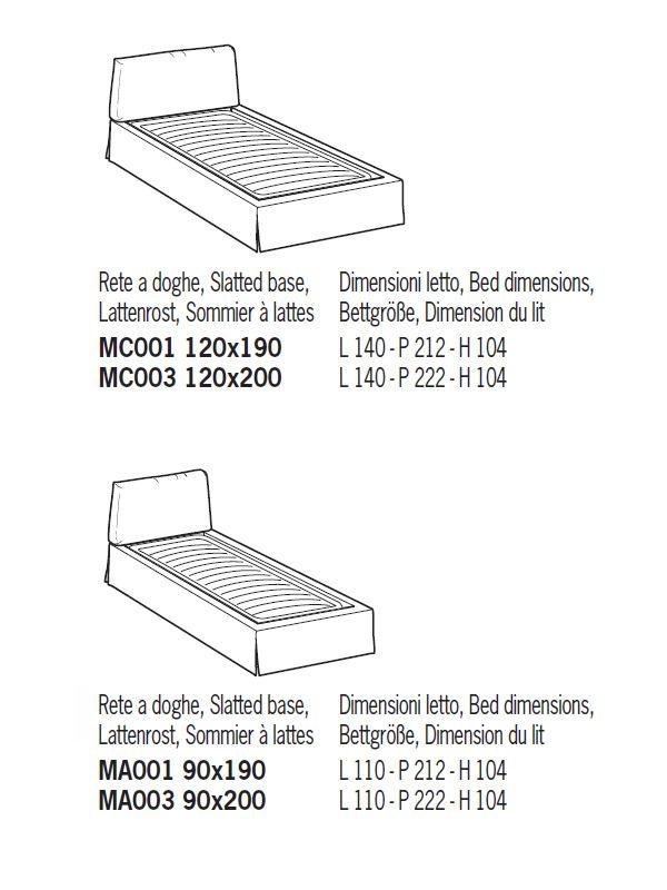 Cama de matrimonio acolchada distintas tapicer as y for Medidas para una cama individual