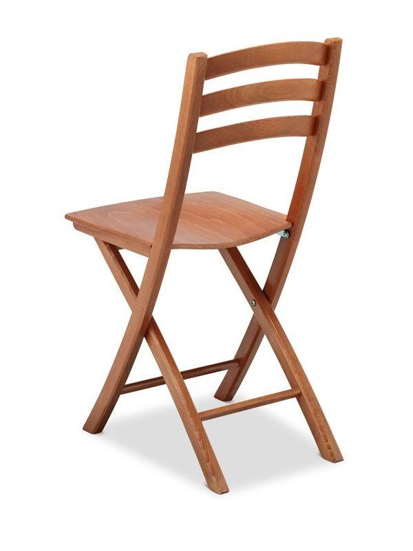 196 silla de madera de haya plegable asiento de madera for Sillas madera colores