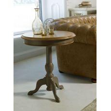 4161 Raman | Tavolino portalampada in legno di Tonin Casa, diversi colori e decori disponibili