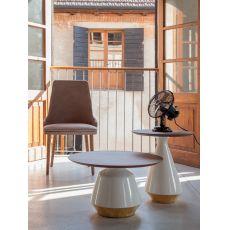6273 Amira | Tavolino Tonin Casa in ceramica e legno, diverse misure e colori