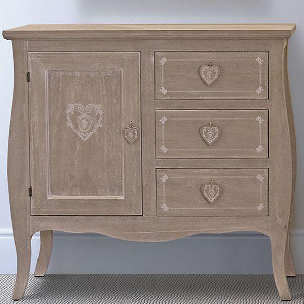Martana credenza shabby chic in legno sediarreda for Credenza shabby chic online