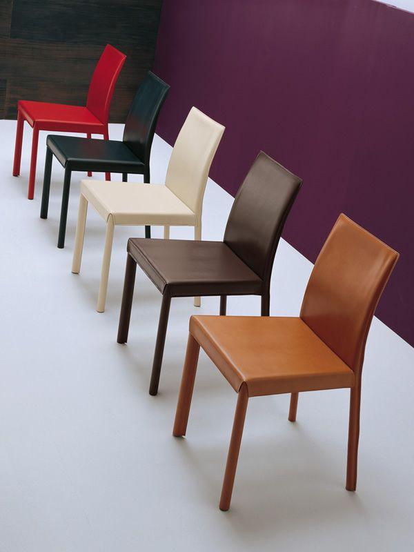 Md029 silla moderna tapizada en piel en varios colores for Sillas tapizadas colores