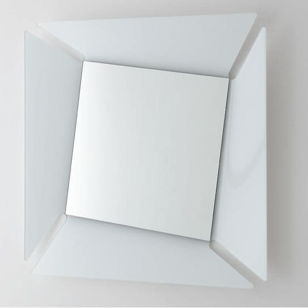 7528Q Callas: Specchio quadrato con cornice in vetro di ...