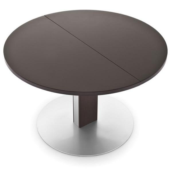 756 rd tavolo allungabile in metallo con piano tondo in vetro diametro 120cm sediarreda - Tavolo vetro temperato opinioni ...