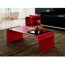 6850 | Tavolino da salotto Tonin Casa, in vetro rosso, 110x60 cm