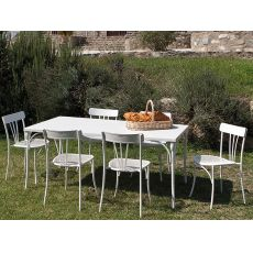 RETRO   T   Tavolo in metallo per giardino, 80x80 cm o 180x90 cm