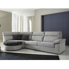Rondò A | 2 seaters sofa, with round element and pouff