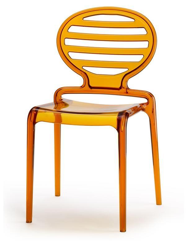 sc2282 cokka chair moderner stuhl in durchsichtigem orange. Black Bedroom Furniture Sets. Home Design Ideas
