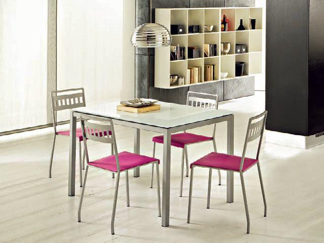 Full tavolo domitalia in metallo piano vetro o - Tavolo vetro temperato opinioni ...