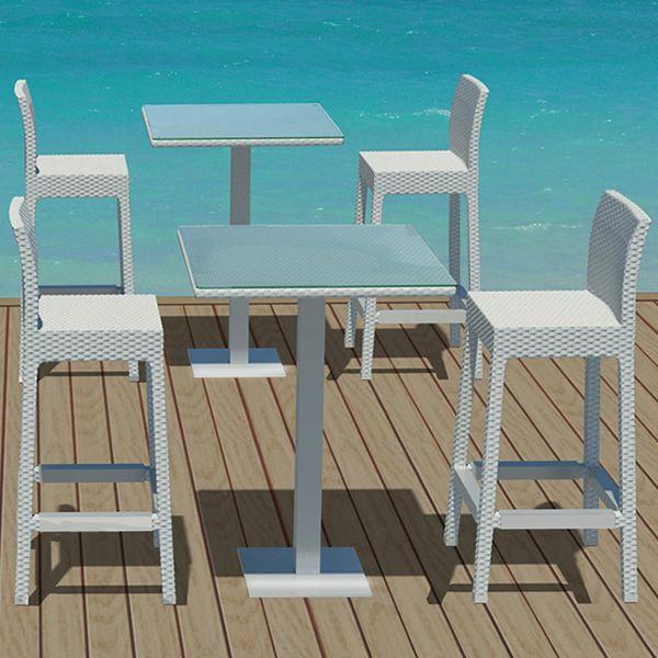 Ibiza st sg per bar e ristoranti set tavolo alto con 2 for Sgabelli e tavoli alti per bar