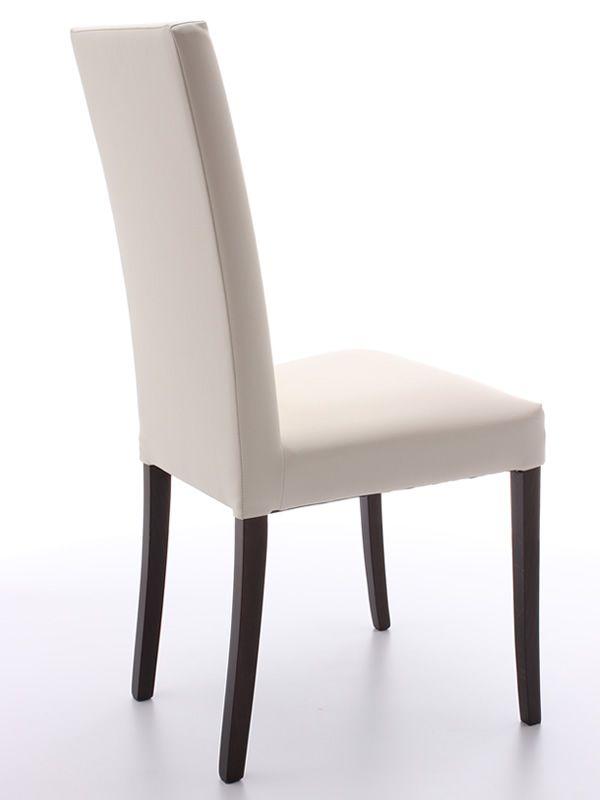 Mu72f sedia in legno seduta e schienale imbottiti e for Sedia design ecopelle bianca