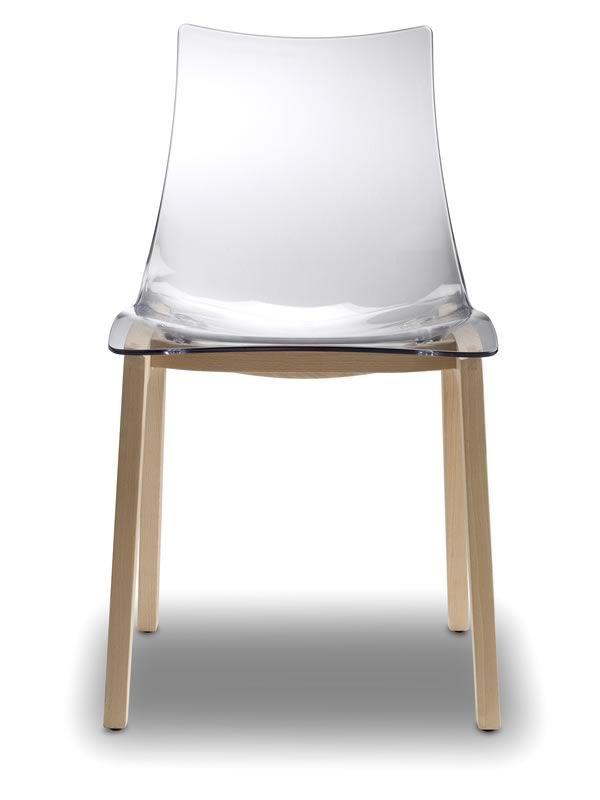 Sc2805 natural zebra sedia in legno e policarbonato for Sedia ufficio trasparente