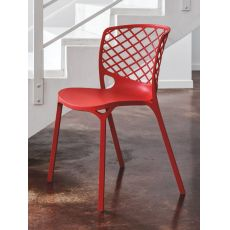 CS1459 Gamera | Calligaris nylon chair, several colours, stackable and for outdoor