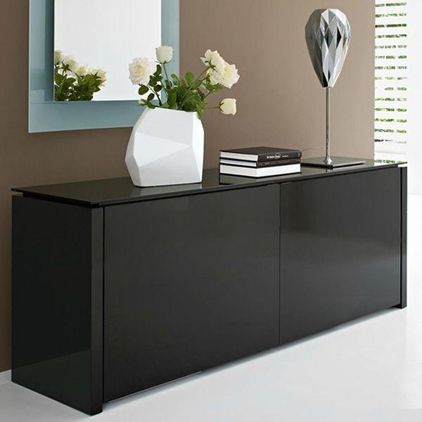 Cs6029 0 mag mobile credenza calligaris in legno e vetro 133x52 cm sediarreda for Mobili da ingresso calligaris