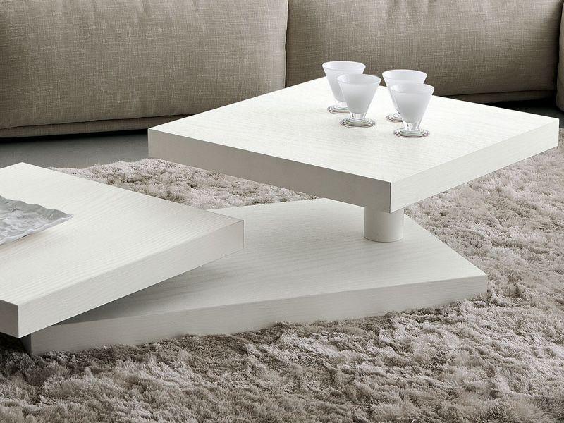 PA368: Tavolino in legno con piani girevoli, diversi colori - Sediarreda