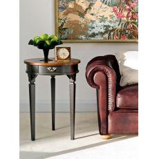 1352 Fox | Tavolino portalampada in legno di Tonin Casa, diversi colori e decori disponibili
