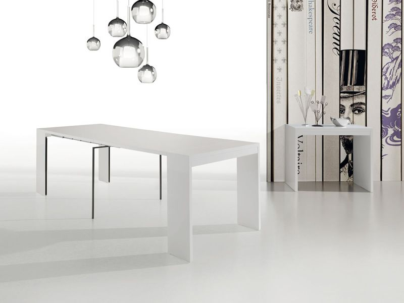 Lima console idealsedia 90x45 cm allungabile a tavolo for Console tavolo
