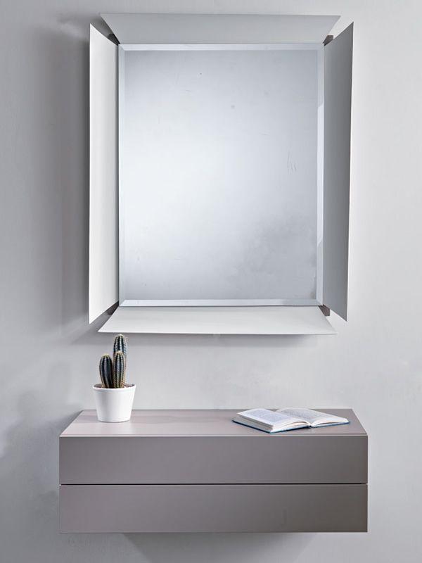 Due B: Mobile ingresso con due cassetti e specchio - Sediarreda