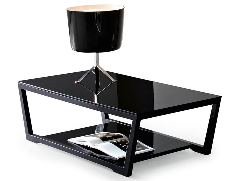 Cs5043 Q Element Calligaris Coffee Table Wood Structure Glass Top 80x80 Cm Sediarreda