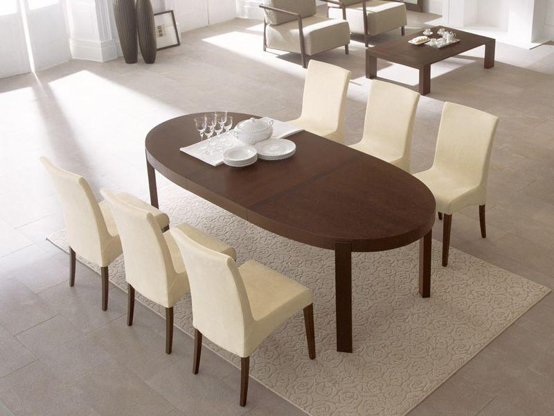 Cs398 e atelier tavolo calligaris in legno ovale for Tavolo allungabile calligaris