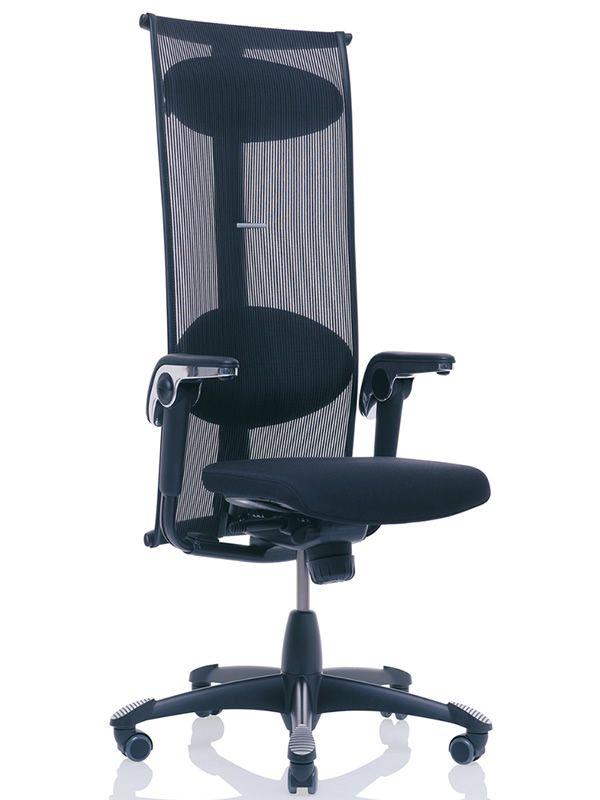 H09 inspiration 2 sedia ufficio ergonomica h g con for Sedia ufficio trasparente