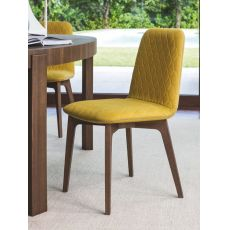 CS1472 Sami | Calligaris chair in wood, fabric or Gummy seat in several colours