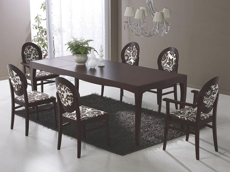 648 p silla de madera con apoyabrazos acolchada y for Sillas con apoyabrazos