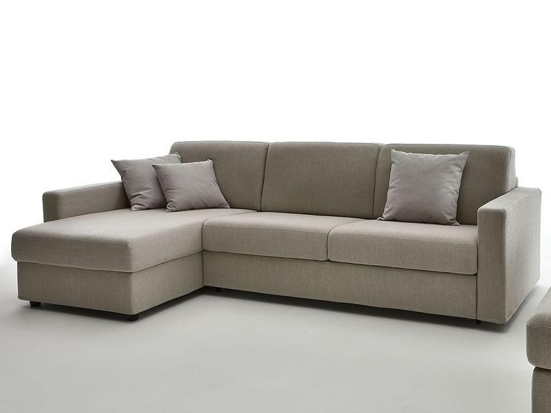 Leo divano letto a 2 o 3 posti maxi con chaise longue for Chaise longue divano