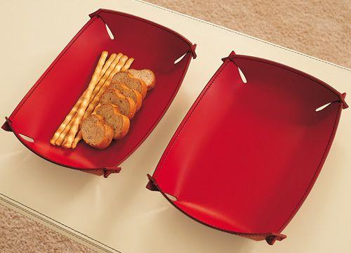 Ma7 porta oggetti in cuoio diverse misure sediarreda for Oggetti in cuoio