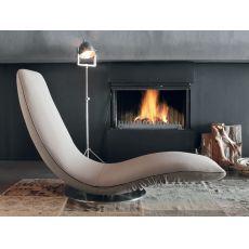7865 Ricciolo | Poltrona chaise longue di design di Tonin Casa, diversi colori disponibili