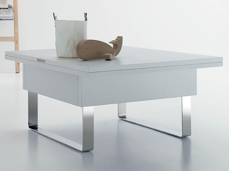 Giove mesita de centro transformable en mesa de comedor 80 160x80 cms sediarreda - Mesas de centro que se elevan ...