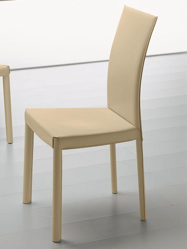 Md028 chaise classique en cuir avec dossier haut en diff rentes couleurs - Chaise en cuir beige ...