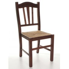 MU29 | Country style chair in wood, several colours, straw or wooden seat