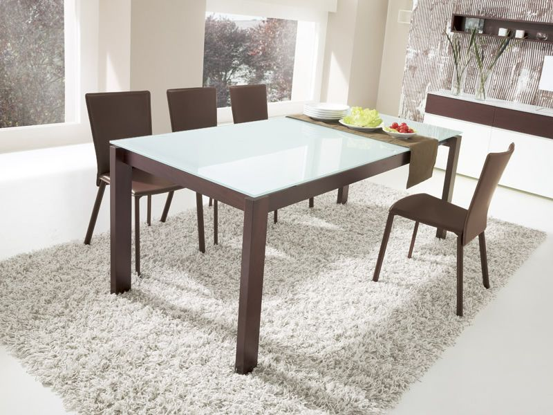 Cs4010 lv 130 baron table calligaris en bois plateau en for Calligaris baron table