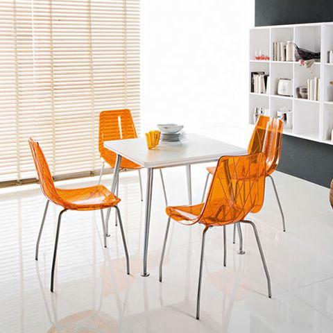 Lynea sedia domitalia in metallo e policarbonato - Sedie policarbonato ...