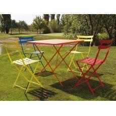 Roy-T   Tavolo pieghevole in metallo per giardino, diverse misure e colori
