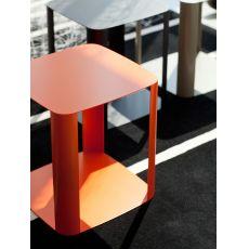 Offset1 | Tavolino quadrato di design in metallo, disponibile in diversi colori