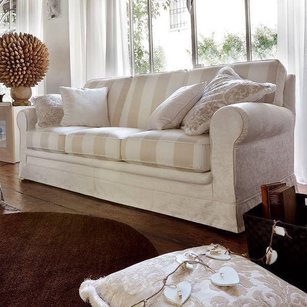 Divano Classico Bicolore Florence : Omero divano classico a posti o xl