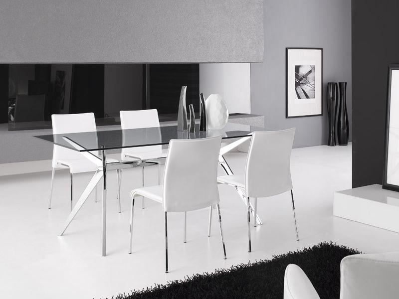 Cs4042 rc seven tavolo calligaris in metallo piano in for Tavoli e sedie calligaris