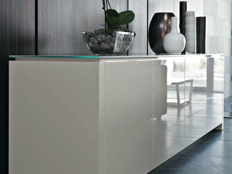 cs6029 2 mag meuble buffet calligaris en bois et en verre 253 5x52 cm sediarreda. Black Bedroom Furniture Sets. Home Design Ideas