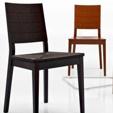 CS169 Style Line | Sedia Calligaris in legno diverse tinte, seduta intrecciata