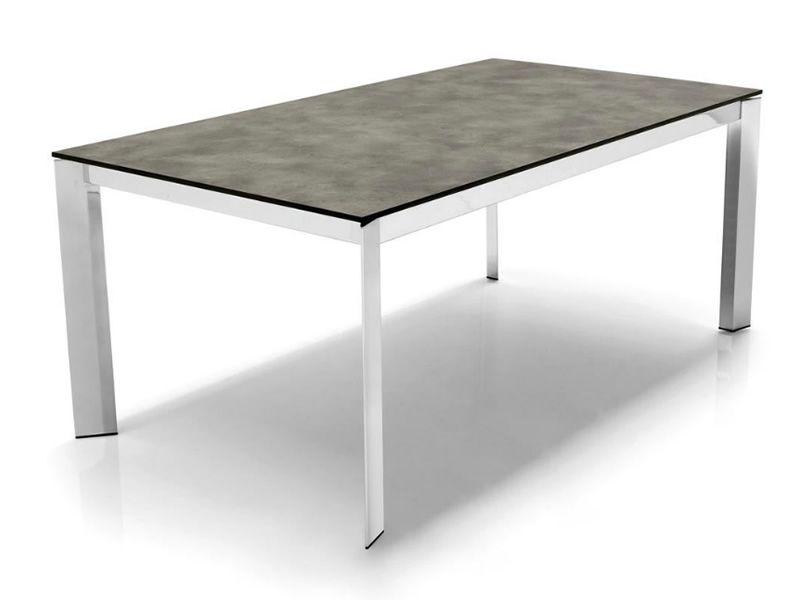 Cs4010 ml 130 baron calligaris metal table laminated top for Calligaris baron table