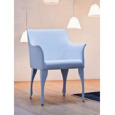 Madame | Poltrona Midj di design con seduta in pelle, ecopelle o tessuto